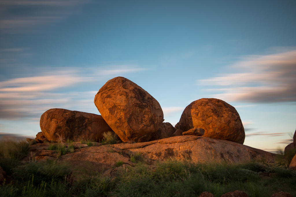 Three-Devils-Marbles-at-Sunset